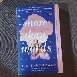 More than words Novel by Jill Santopolo